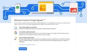 aktivace Google signals