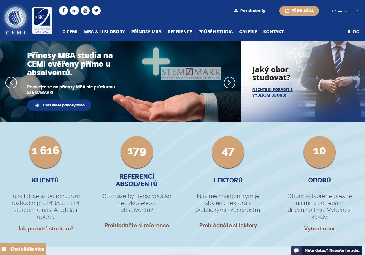 webové stránky cemi