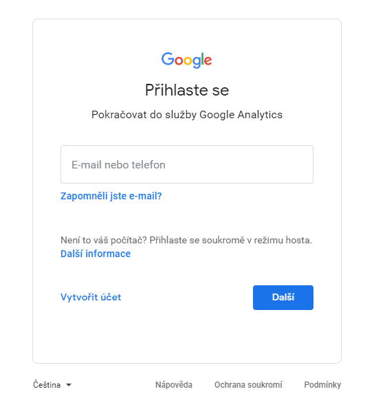 Nasdílení Google Analytics 3. krok