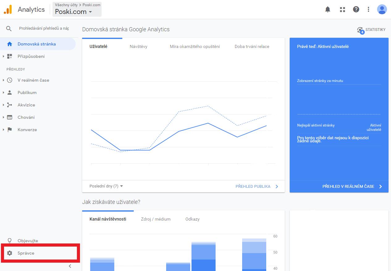 Nasdílení Google Analytics 4. krok