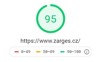 rychlost načítání zarges desktop