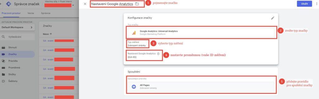 Nastavení Google Analytics v Google Tag Manageru