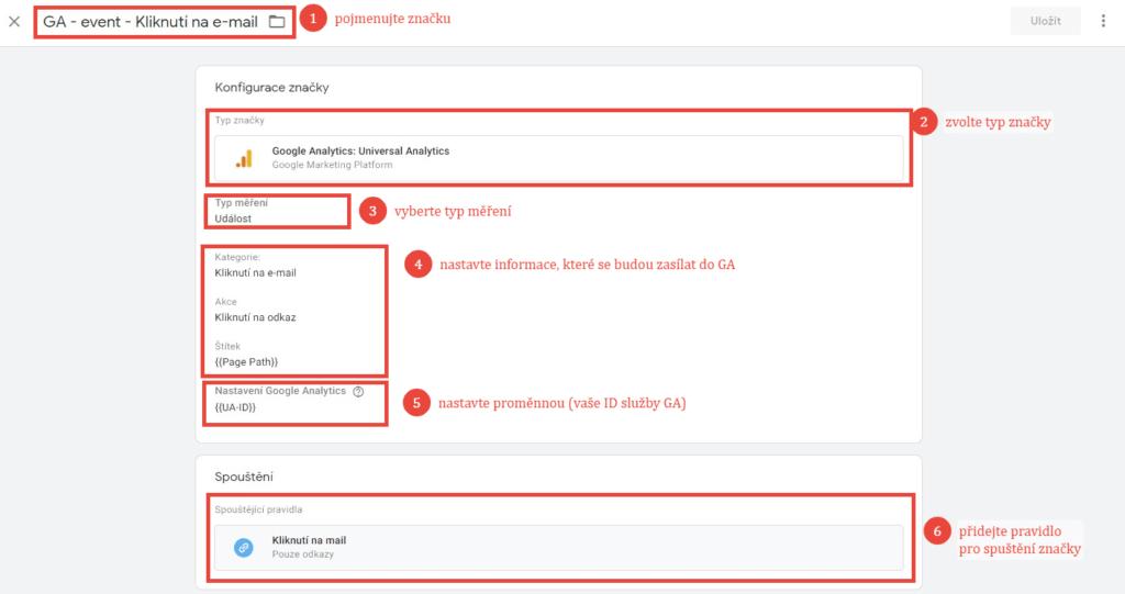 Nastavení události pro Google Analytics v Google Tag Manageru
