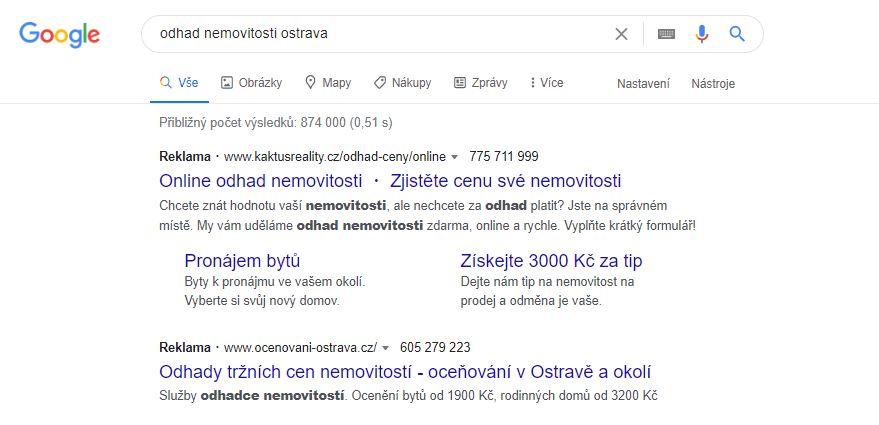 PPC reklama ve vyhledávací síti