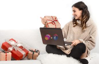 sociální sítě Vánoce