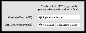 Upozornění chrome na nezabezpečený web